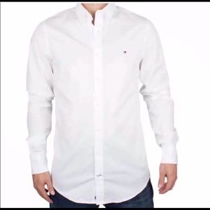 Tommy Hilfiger Long Sleeve White Shirt Size XL
